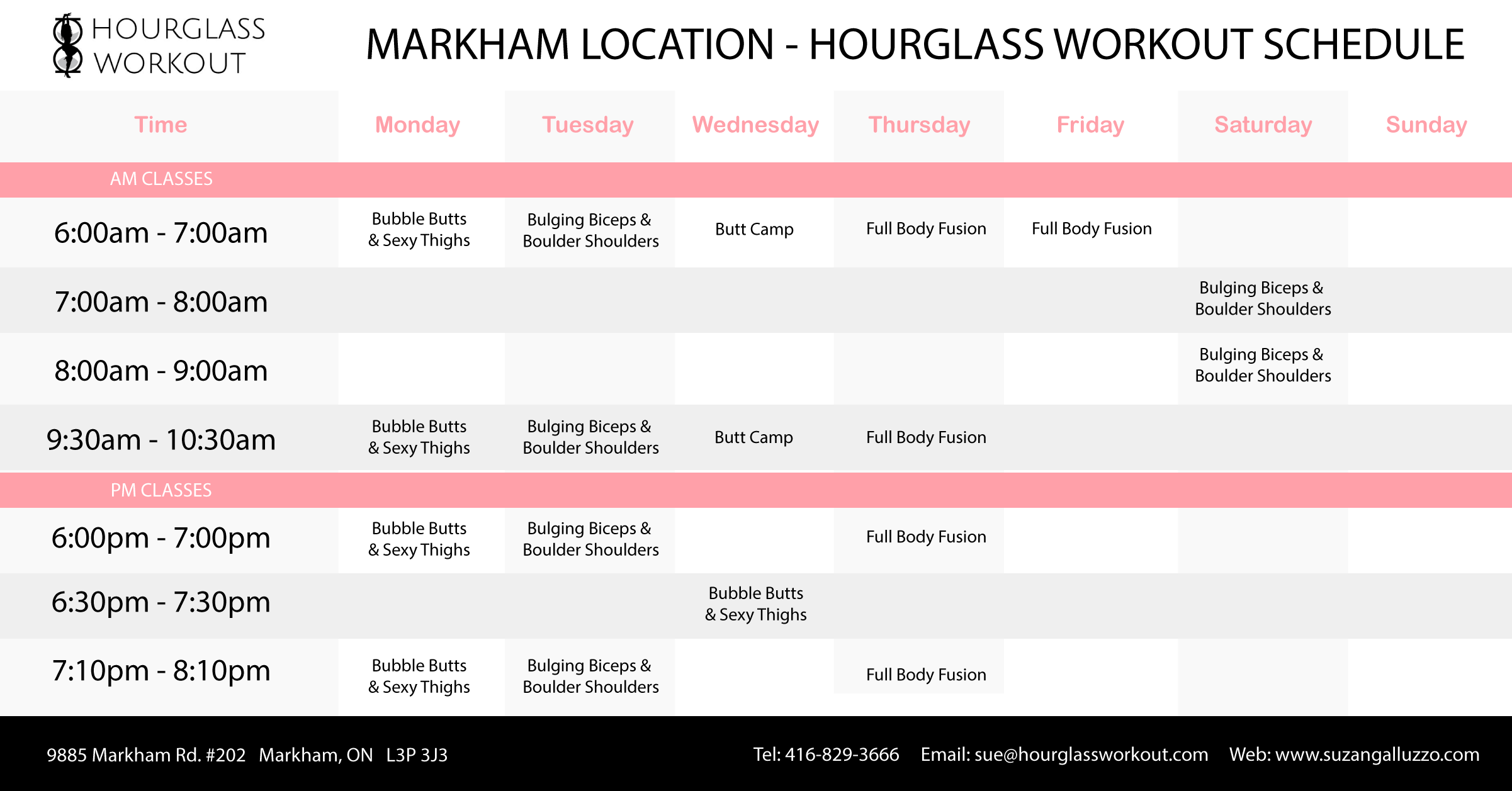 Hourglass Workout - Markham Studio