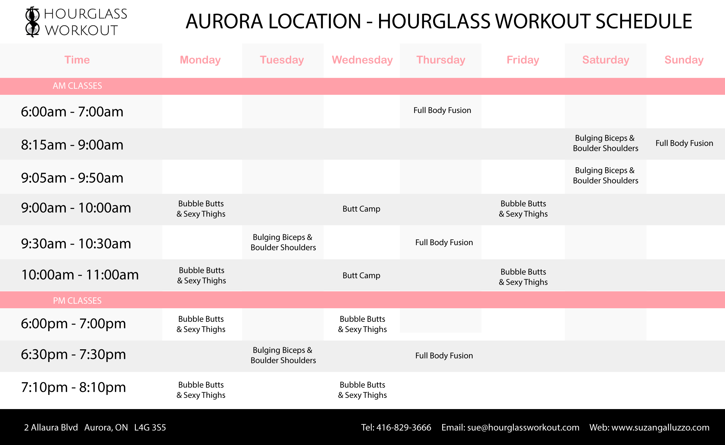 Hourglass Workout - Aurora Studio